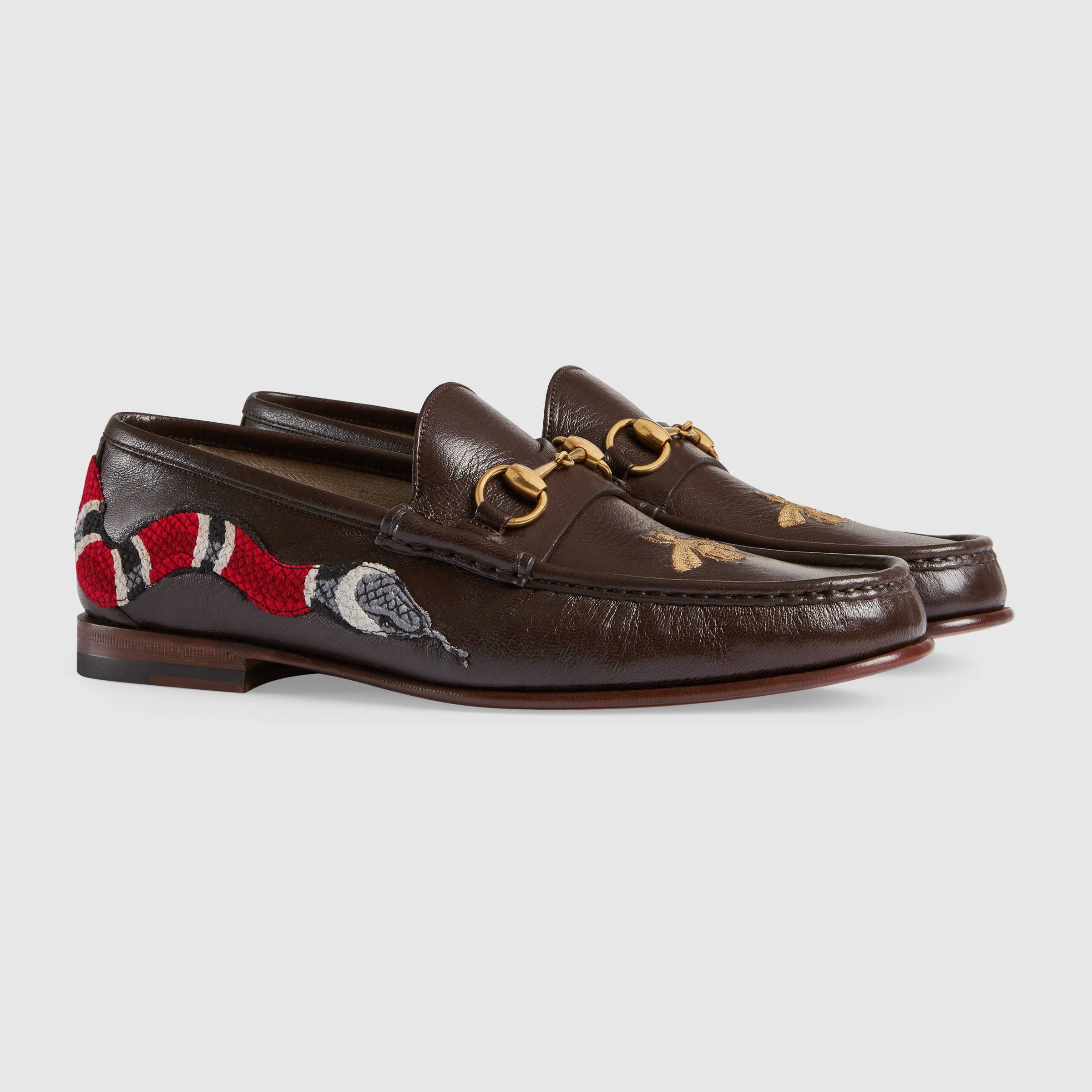 f7619b881fe Gucci Leather loafer with snake Detail 2