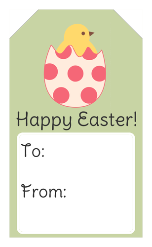 Chick hatching easter gift tag free label printables pinterest wish your loved ones a happy easter with these festive gift tags negle Images