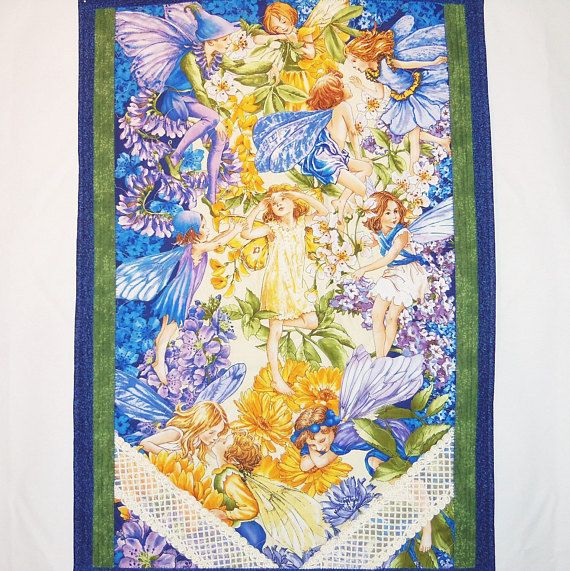 Fairy Wall Hanging, Quilted Fibre Art, Nursery Room Decor, Fairy 3D ...