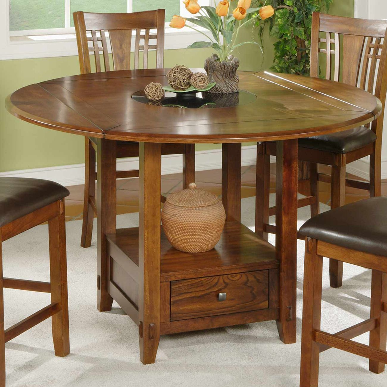 Lazy Susan For Table Magnificent Shop Winners Only Dzh54260 Zahara Counter Height Dining Table With Inspiration Design