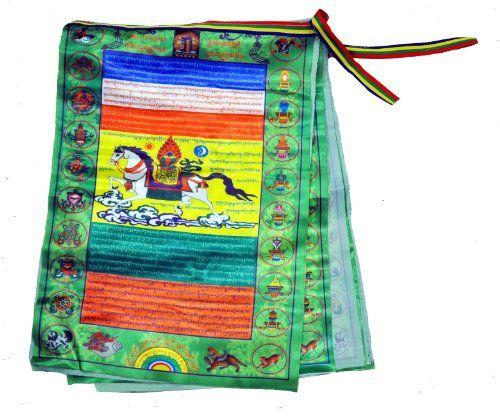 Premium Quality Satin Large Tibetan Prayer Flags / Lungta Prayer Flags / Tibetan Wind Horses Prayer Flags Prayer Flags,http://www.amazon.com/dp/B007CMDPYM/ref=cm_sw_r_pi_dp_YLAetb0PPYCQ1WN9