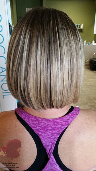 A Brazilian Blowout with a classic Bob haircut by:  Hair Stylist Greg Miranda of Uniquely Elegant Salon Spa, Albuquerque, NM 87113. See more at: http://www.uniquelyelegantsalon.com/haircuts-hairstyles-photos-albuquerque/