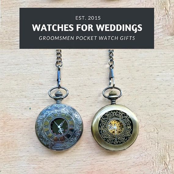 Wedding Gifts For Ushers And Best Man: Engraved Pocket Watch Groomsmen Gifts