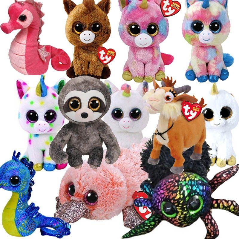 5a9aa06cf24 15CM Hot Sale Ty Beanie Boos Big Eyes Unicorn Ghost Plush Toy Doll Stuffed  Animal Cute Plush Kids Toy juguetes