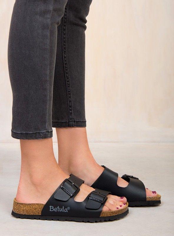 2501bf7fdec Betula By Birkenstock Black Boogie Sandals