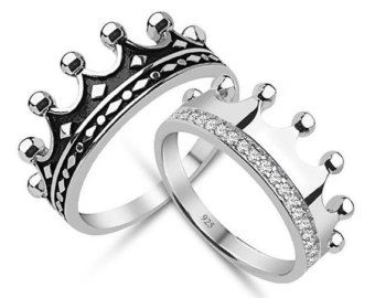 880d681834a5 Anillo de rey y Reina corona juego de anillo por UNIQUENEWLINE ...