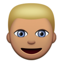Olive Toned Person With Blond Hair Emoji U 1f471 U 1f3fd Emoji Emoji Faces Colors For Skin Tone