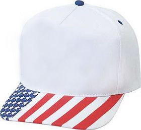 Patriotic Caps, 5 Panel USA Flag Cap
