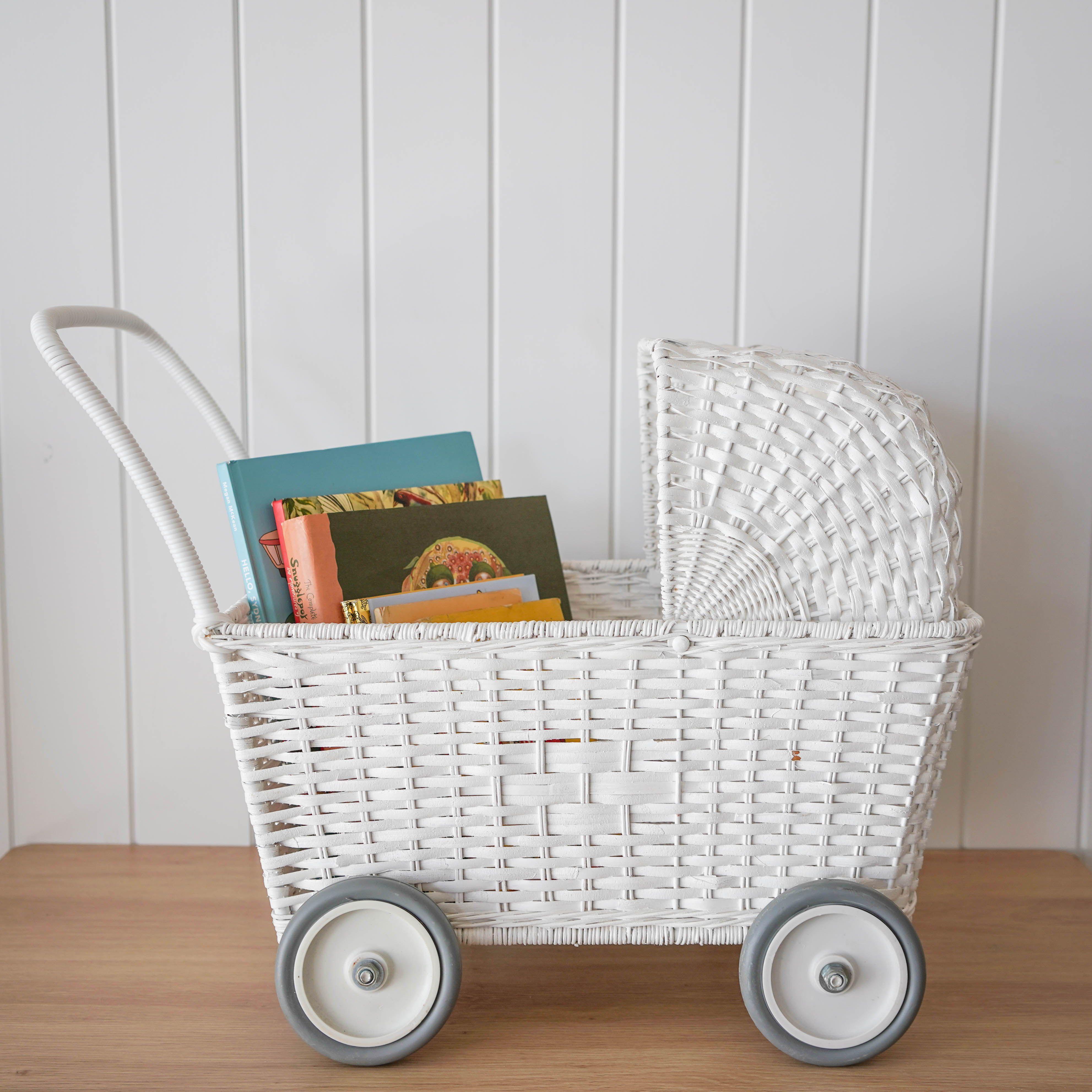 Olli Ella Strolley Convertible Rattan Stroller Trolley Nursery Room Decor Nursery Room Baby Nursery