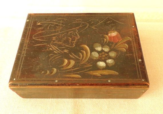 Vintage Wooden Box Carved Box Jewelry Box by dreambox4you on Etsy