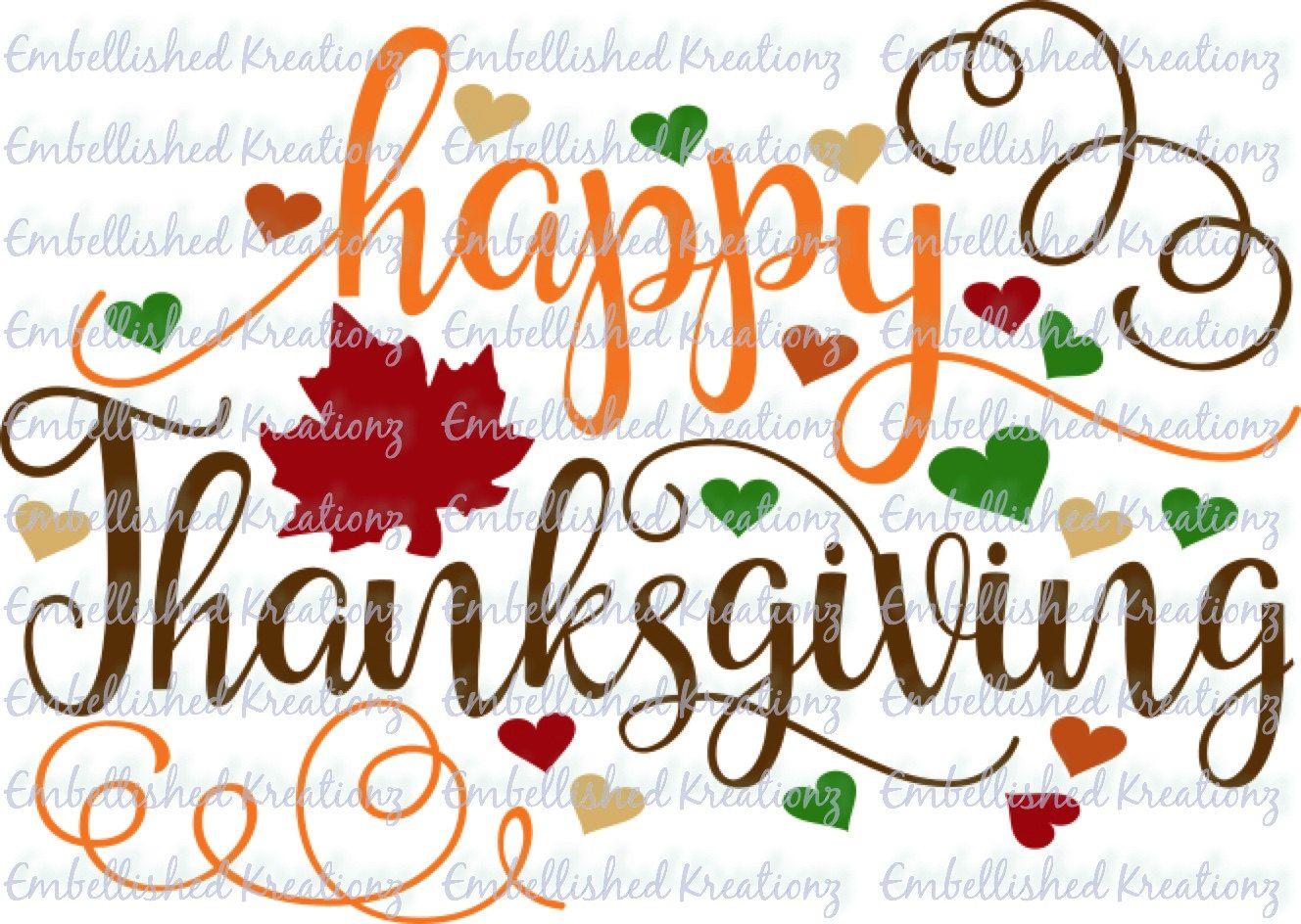 ThanksgivingHappy Thanksgiving With SwirlsHeartsLeaves Vinyl - Halloween vinyl decals for glass blocks