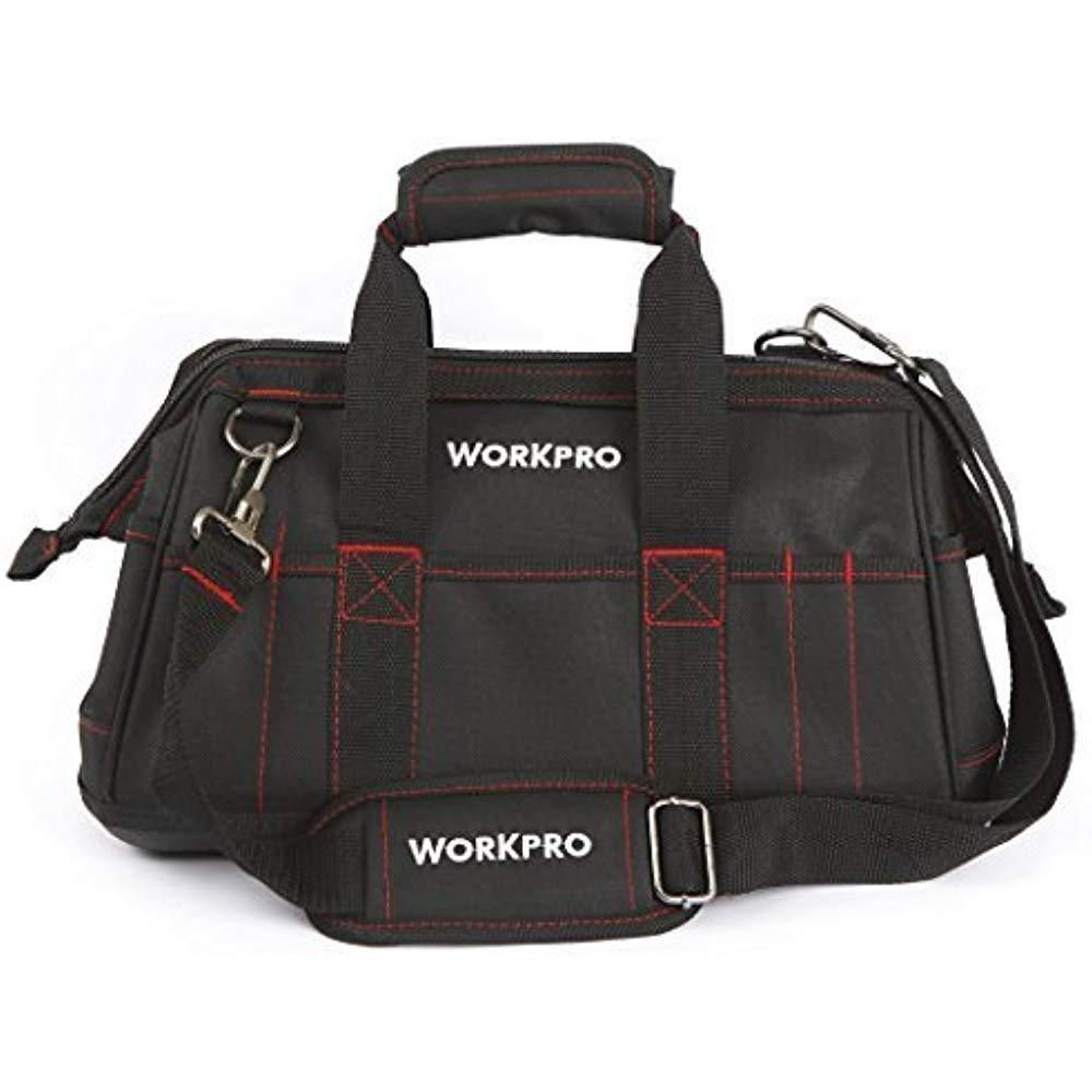Tool storage Bag - Details about WORKPRO Tool Bag Tools 16 Wide Mouth  Holder Storage Wrenches Pliers Screwdriver...  Toolstorage  Bag 2397393b6b58