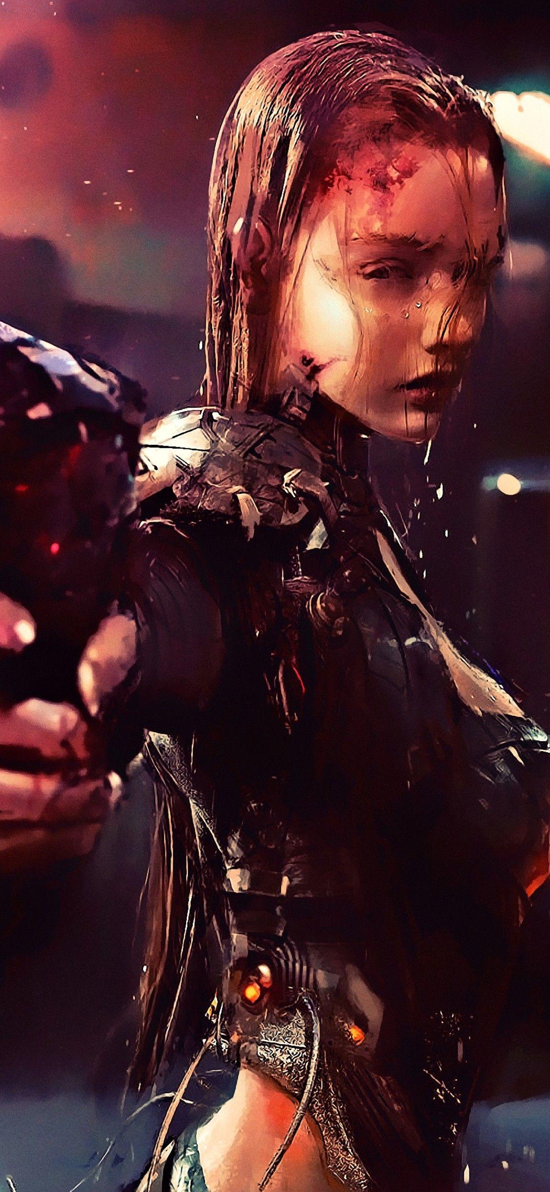 Warrior Girl Cyberpunk Futuristic Artwork Iphone X