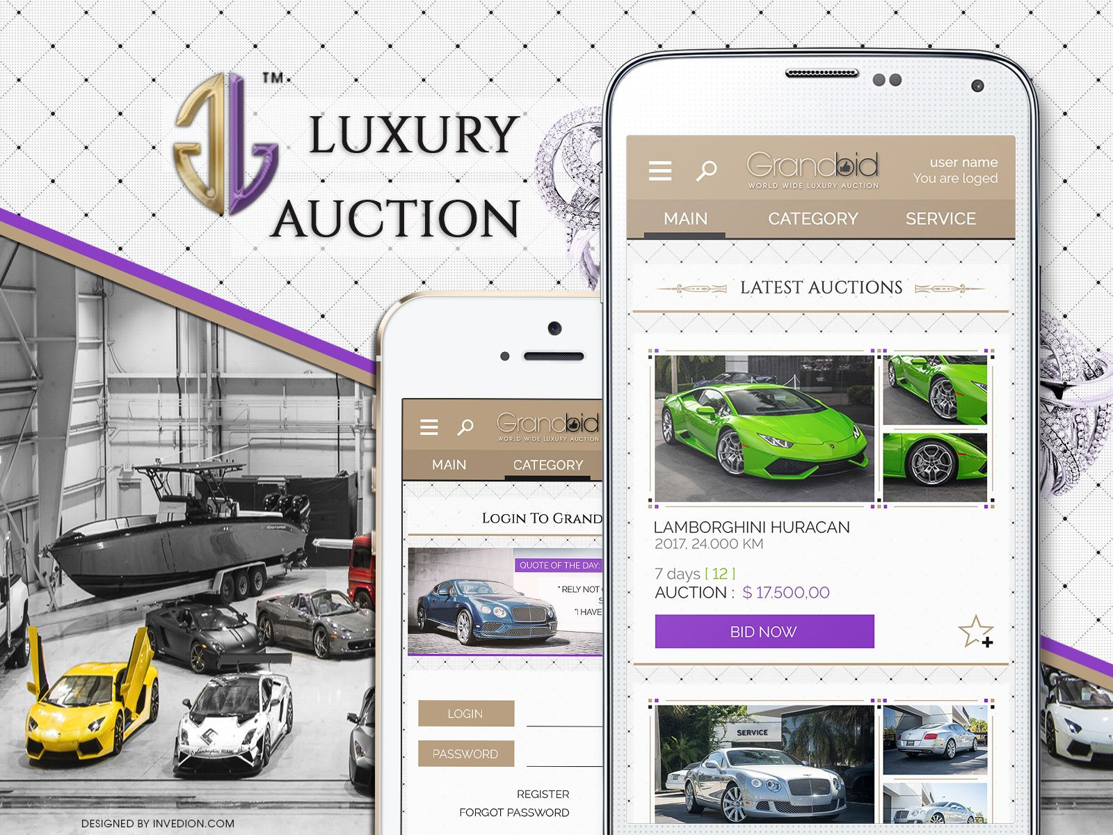 Internacional Luxury Auction Android And iOS Mobile App
