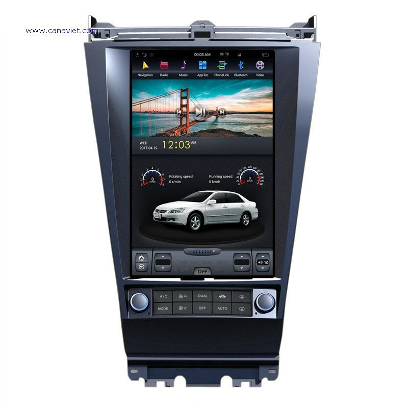 Vertical Screen Tesla Android Autoradio Car Multimedia Stereo Gps Navigation Dvd Radio Audio Sat Nav Honda Accord Honda Accord Custom Honda Accord Accessories