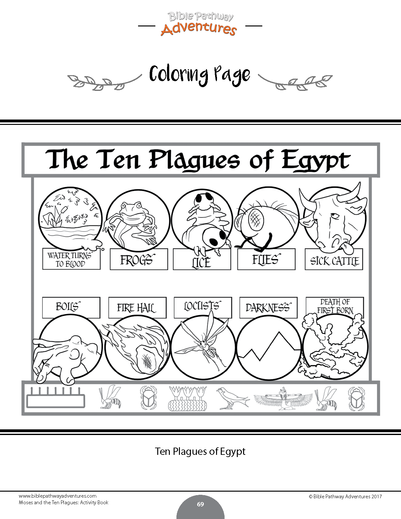 Moses And The Ten Plagues Bible Activity Book