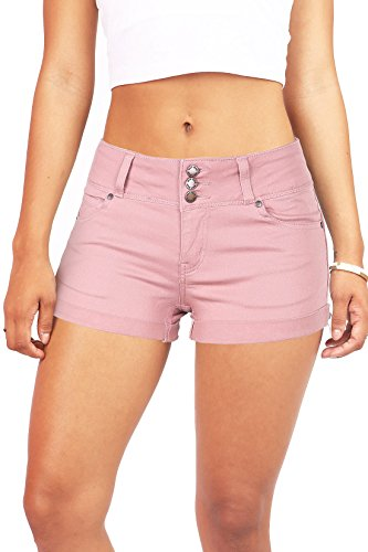 Wax Womens Juniors Casual Push up Fit Shorts