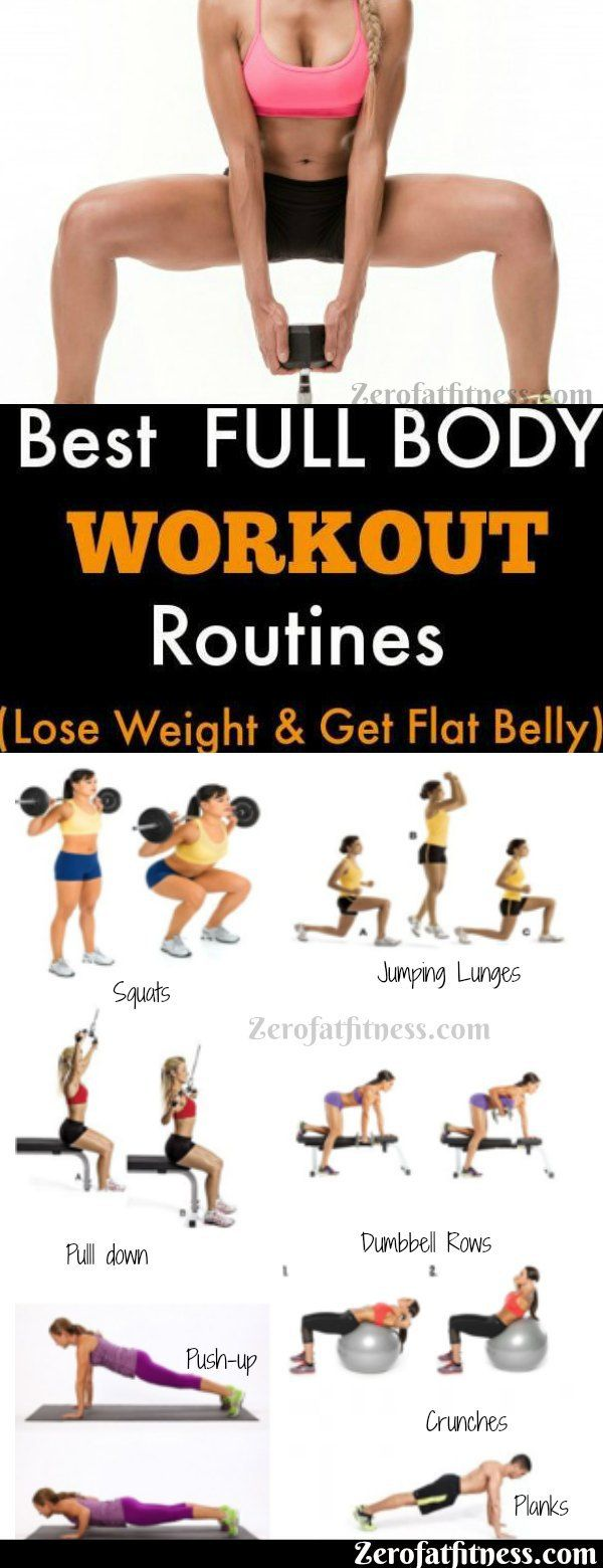 7 Best Full Body Workout Routines to Lose Weight and Get Flat Belly #weighttraining