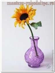 Мастер-класс по керамической флористике: Подсолнух