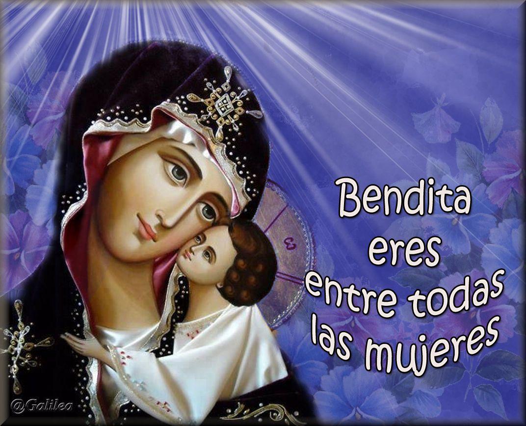 Eres Bendita entre todas las mujeres, Santísima entre todas las santas y Virgen entre todas las vírgenes.