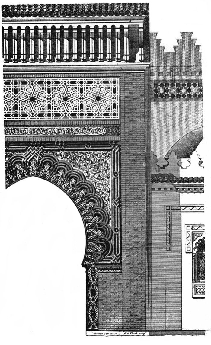 Algerian Palace At The World Exhibition In 1878 Architect Ch