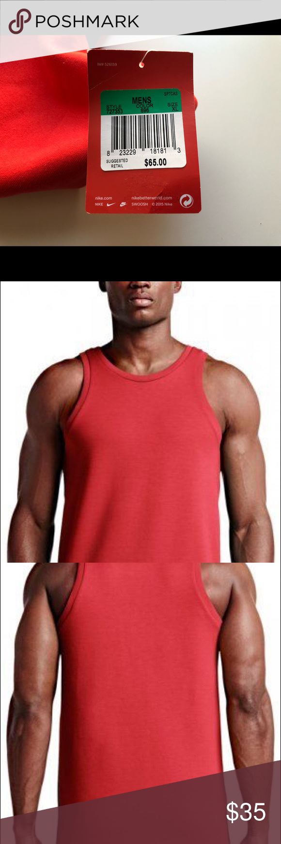 49cc2de970f4f7 Men s Nike Sportswear Tech fleece tank top NWT Brand new with tags only  have size extra-large available. Nike color is light Crimson 727353–696  retail is ...