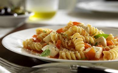Rotini with Cherry Tomatoes, Mozzarella and Basil Recipe | Barilla