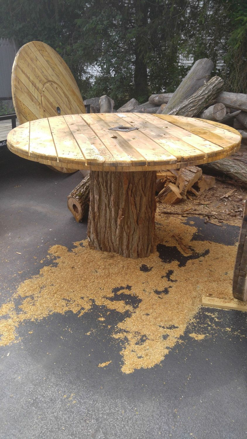 Items similar to Up-cycled cable spool tables made to your choosing on Etsy #cablespooltables