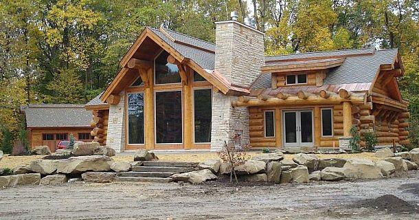 Красивые дома и фасады, фото | Бревенчатый дом снаружи ...