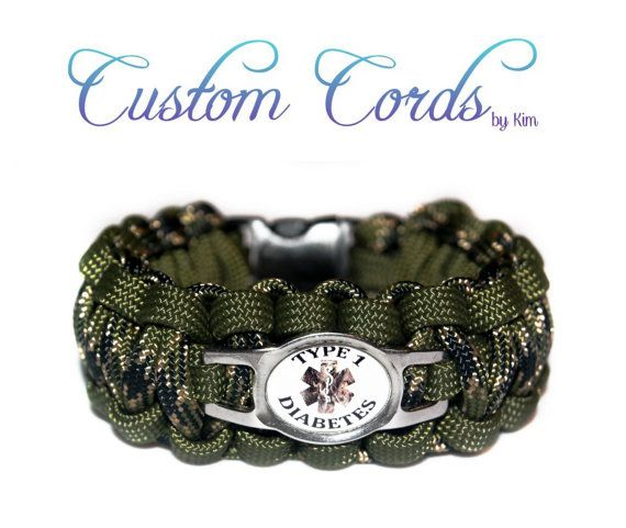 Custom Camo Medical Alert Paracord Id Bracelet With Stainless Steel Water Resistant Charm Customize It