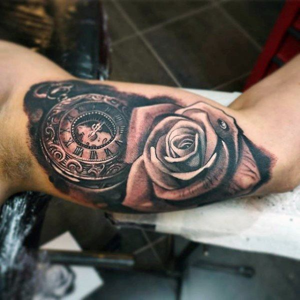 Car Part Coming Out Of Skin Tattoo