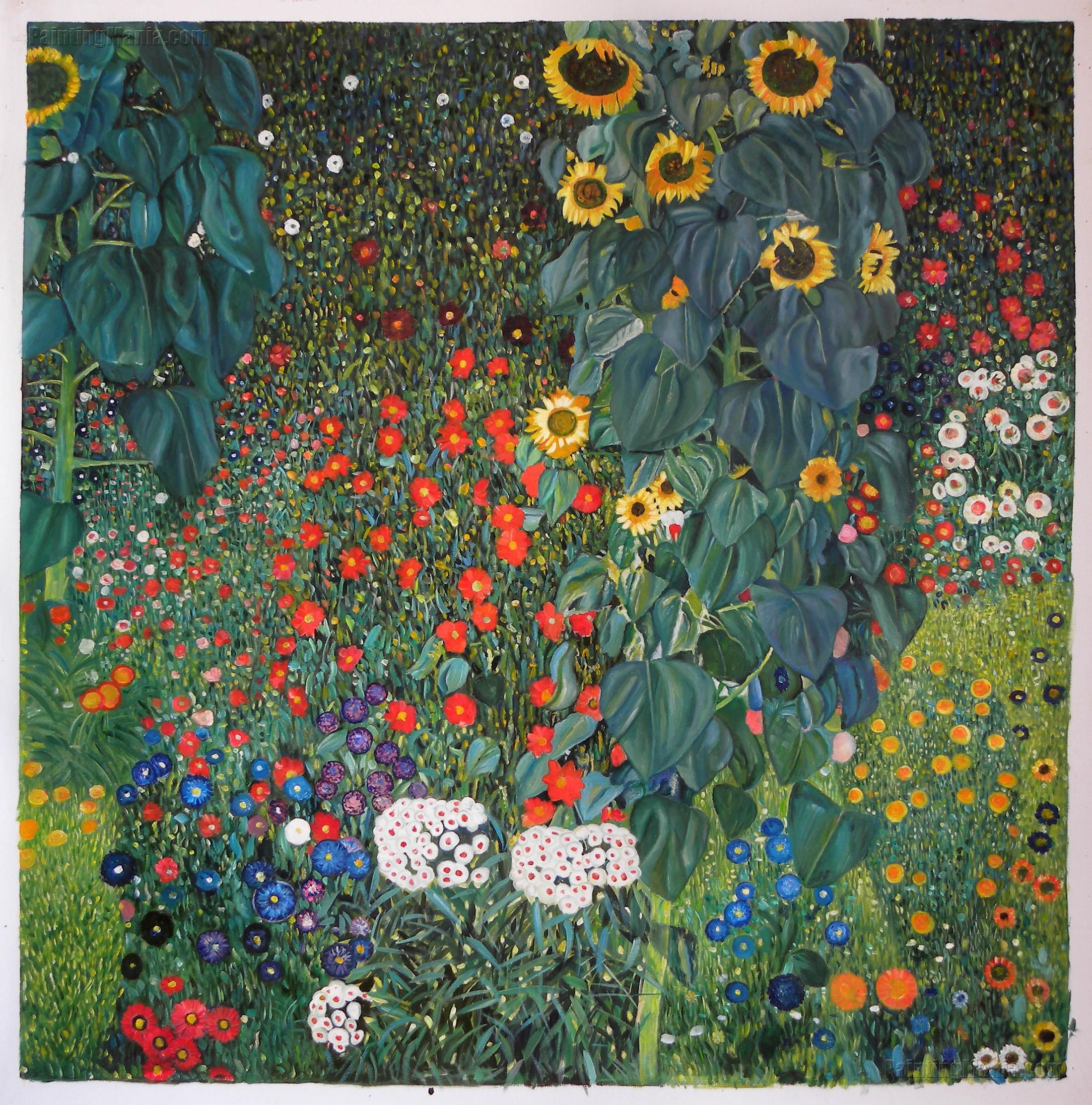 Farm Garden With Sunflowers With Images Gustav Klimt Klimt