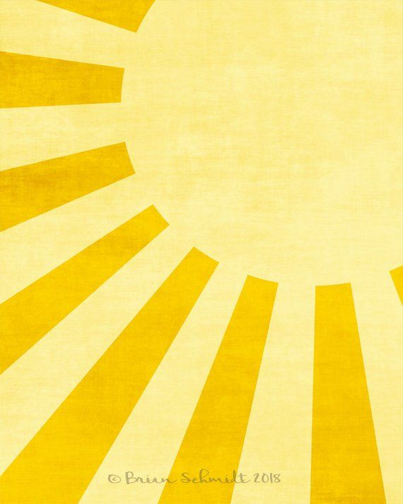 Sun Nursery Art Print - Sunshine Kids Room Wall Art, Bright Nursery, Yellow Nursery Decor