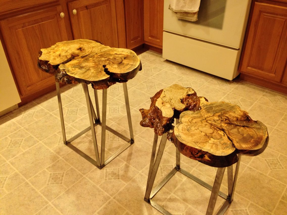 End tables Custom end table  Spalted maple Hand-made