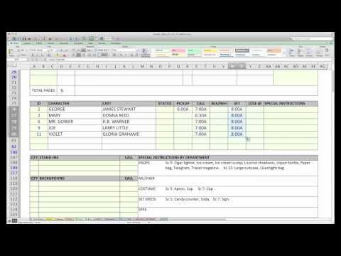Casper\u0027 Spreadsheet Template Makes Call Sheets and Production