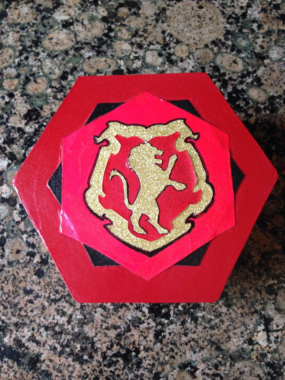 Gryffindor House  Hand Decorated Wooden Box by FandorasBox on Etsy, $14.99