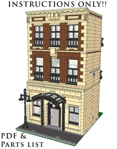 Details about Lego Custom Brownstone Modular Building - INSTRUCTIONS