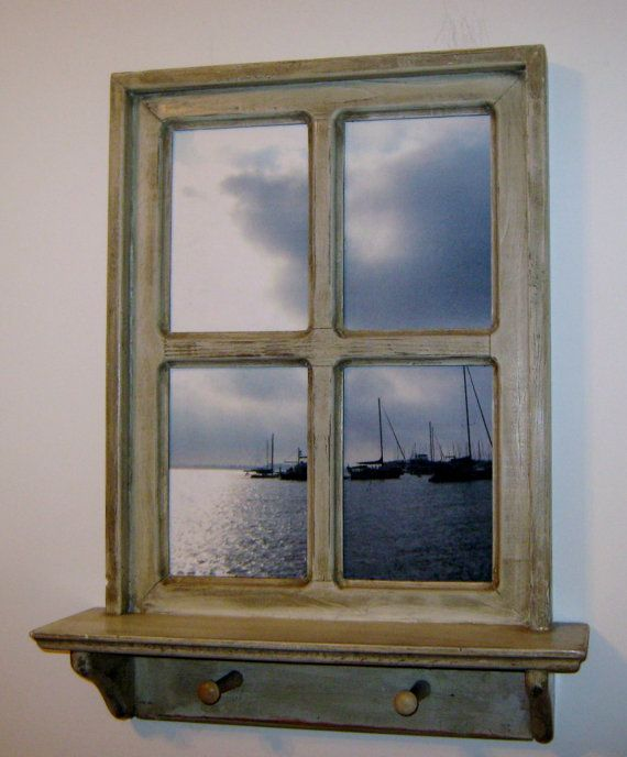 Framed Photography Window Frame Distressed Window Annapolis Photo Sail Boat Photo Wood Shelf F Window Frame Picture Framing Photography Shabby Chic Frames