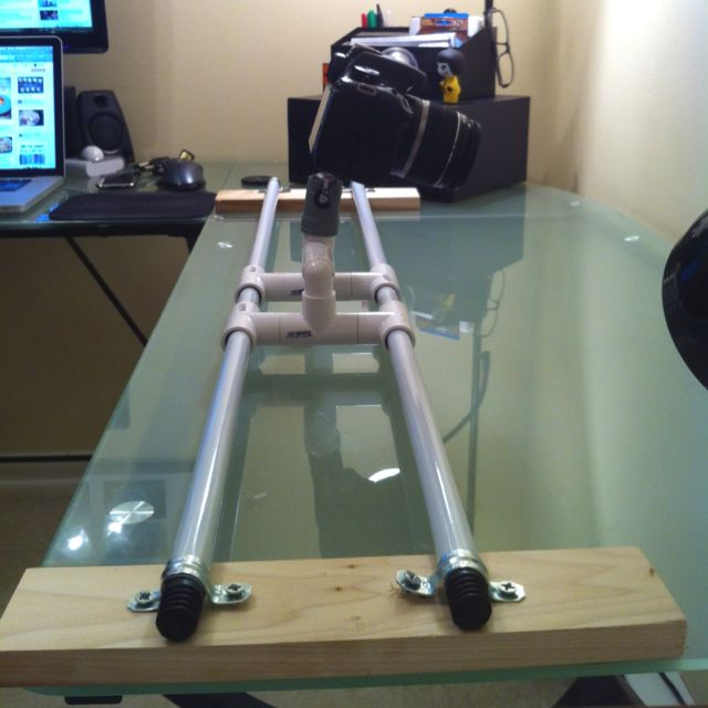 My homemade $10 camera slider. Works awesomely!   Camera ...