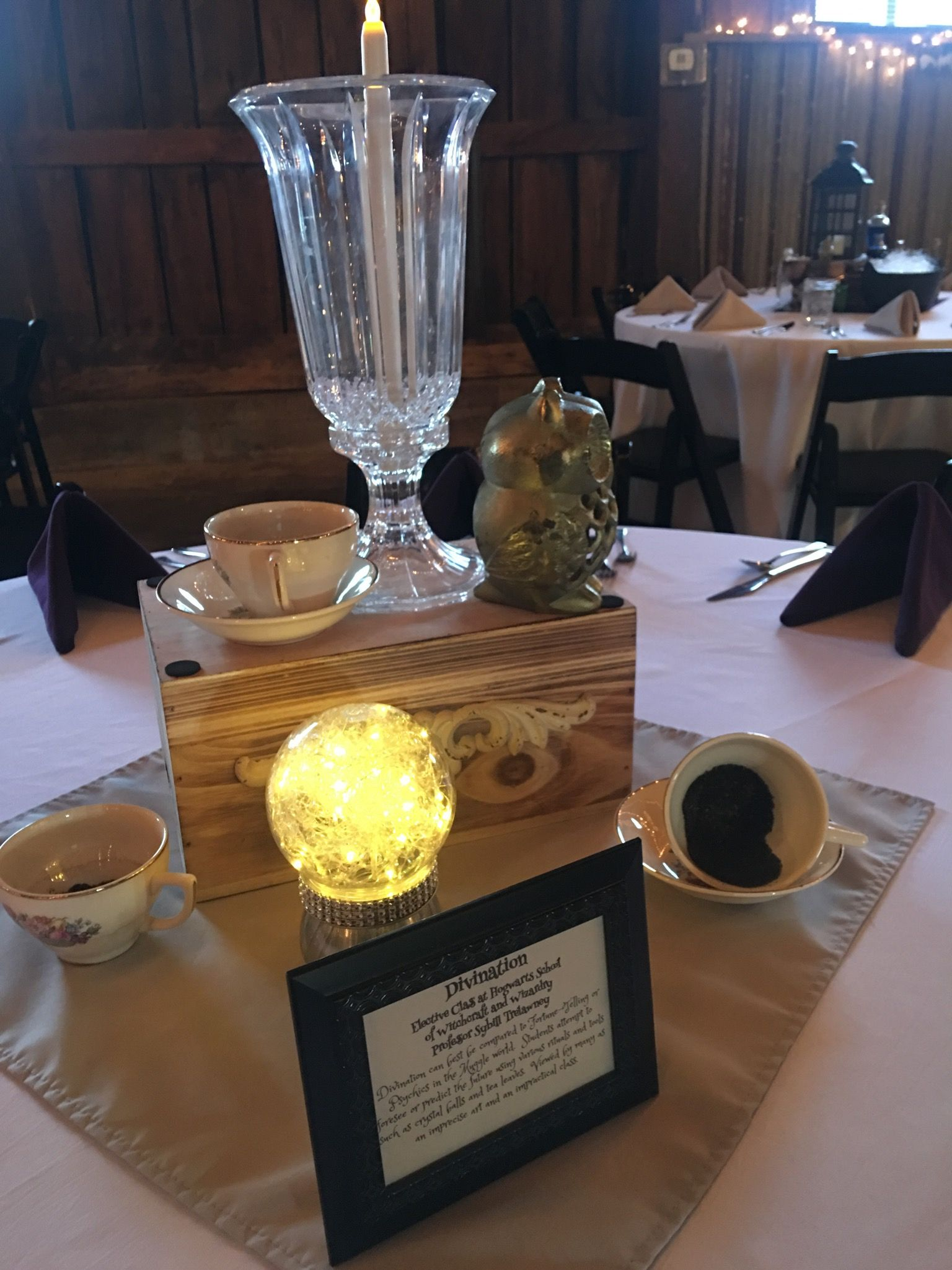 Divination Centerpiece Harry Potter Themed Wedding Pinterest