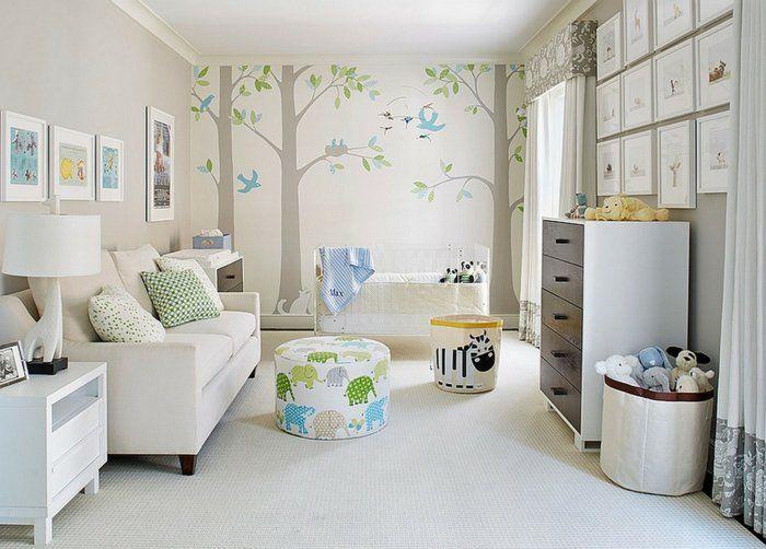 babyzimmer gestalten neutrale farben passen f r m dchen und jungen babyzimmer deko. Black Bedroom Furniture Sets. Home Design Ideas