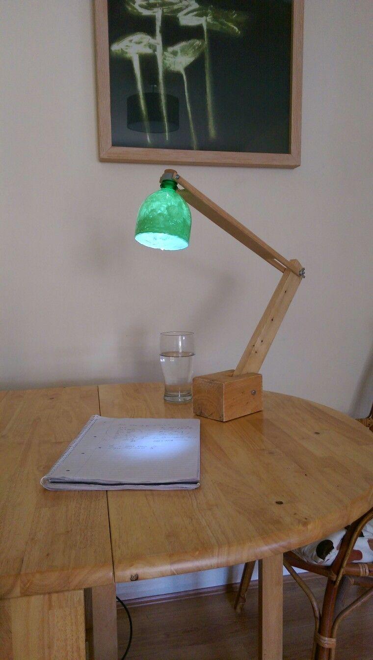 Pallet lamp & led bottle light homemade! Led bottle