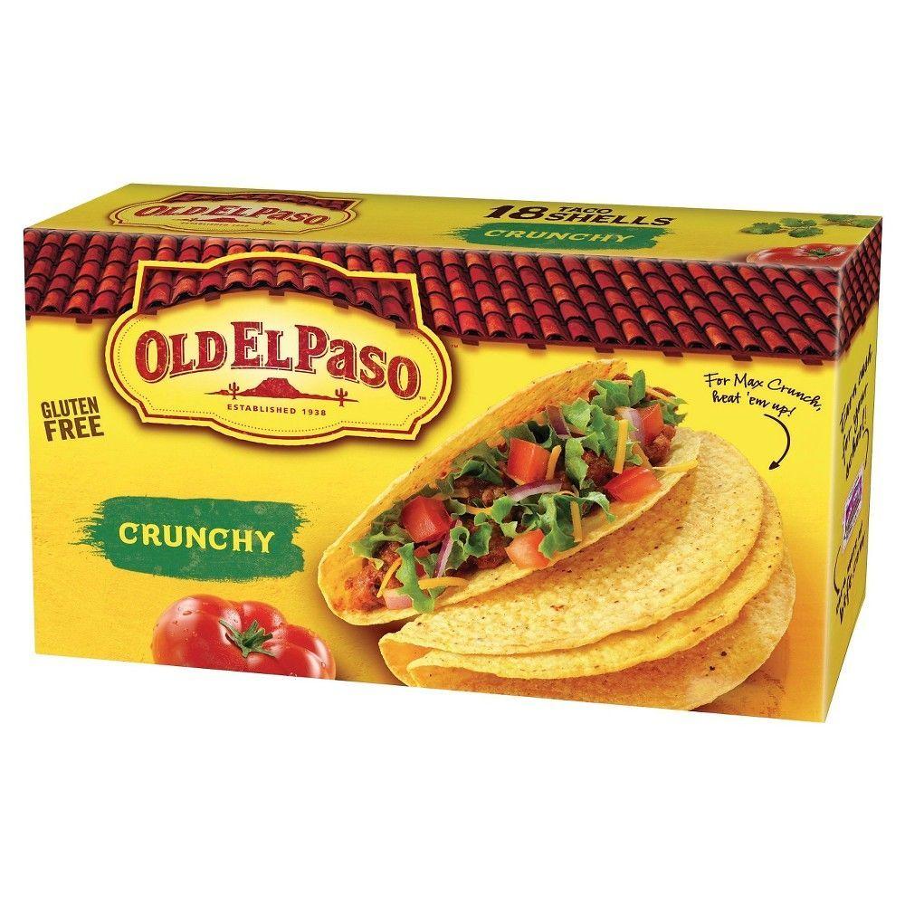 Old El Paso Crunchy Taco Shells Gluten Free 18 ct | Taco ...