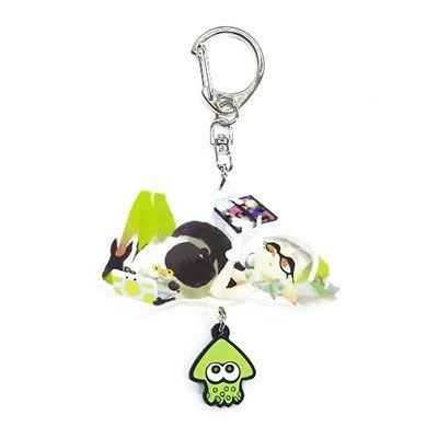 Splatoon - Ikasu Acrylic Keychain w/Rubber: Marie & Judd