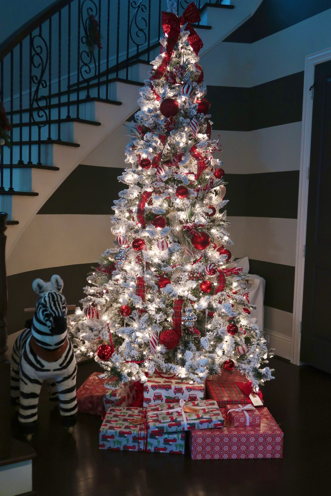 This & That (With images)   Holiday christmas tree, Flocked christmas trees, White christmas trees