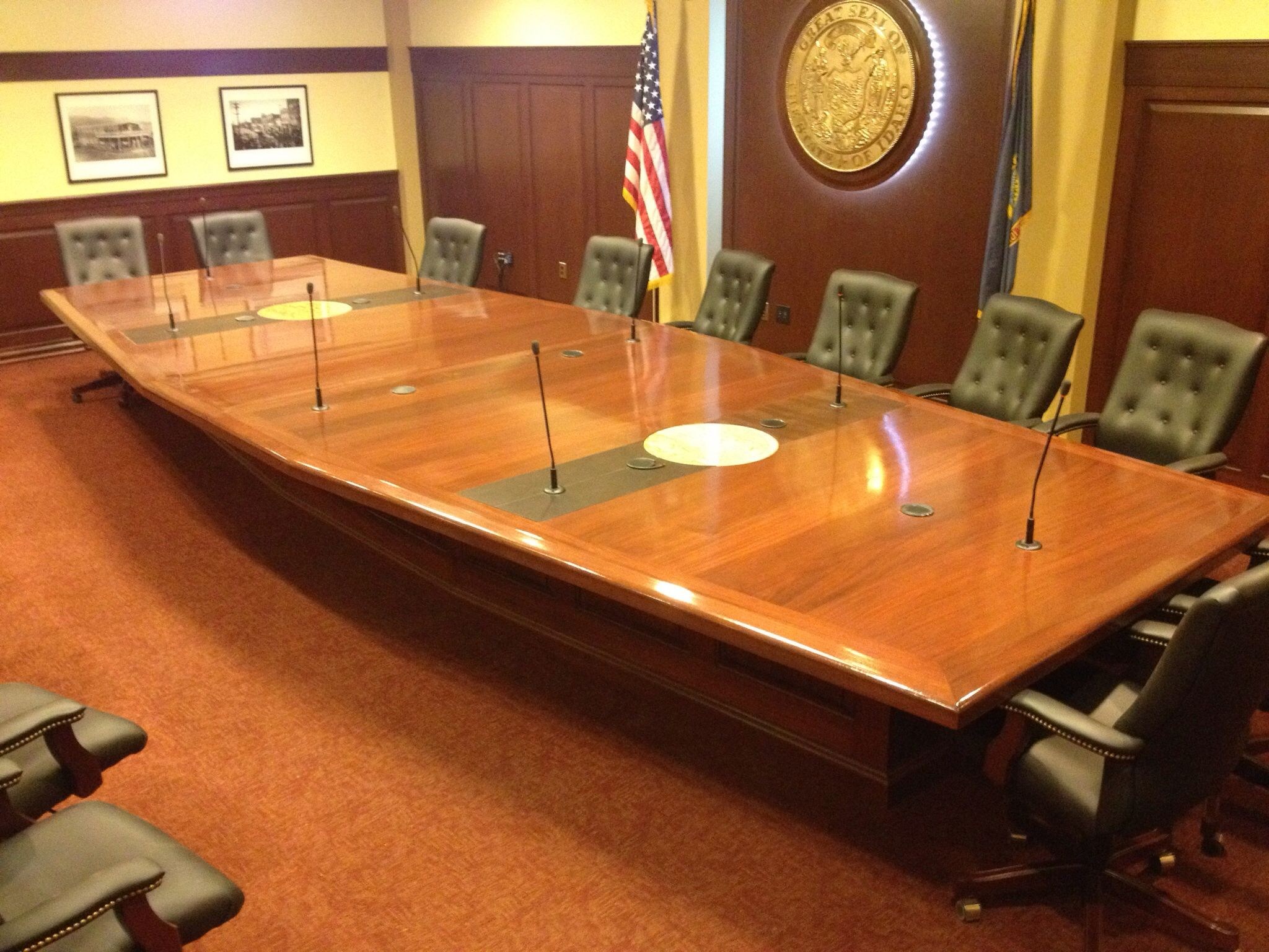 Conferenc table at idaho state capital Work by rastephan Boise, ID