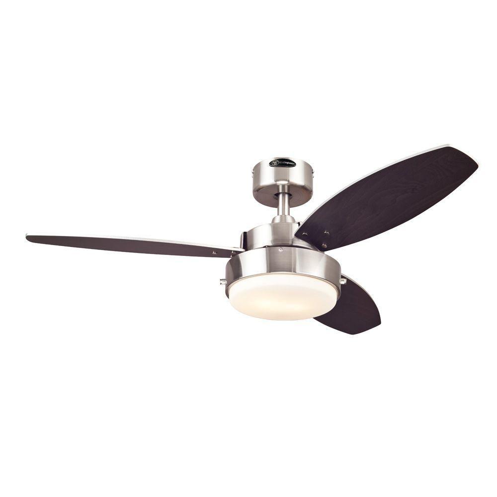 Westinghouse Alloy 42 In Indoor Brushed Nickel Ceiling Fan 7247300 The Home Depot Brushed Nickel Ceiling Fan Ceiling Fan Brushed Nickel