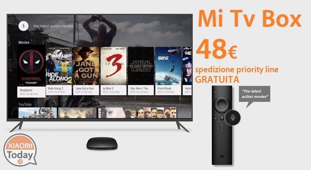 Offerta - Xiaomi Mi TV Box 4K Internazionale 2/8Gb a soli 48€ con ...