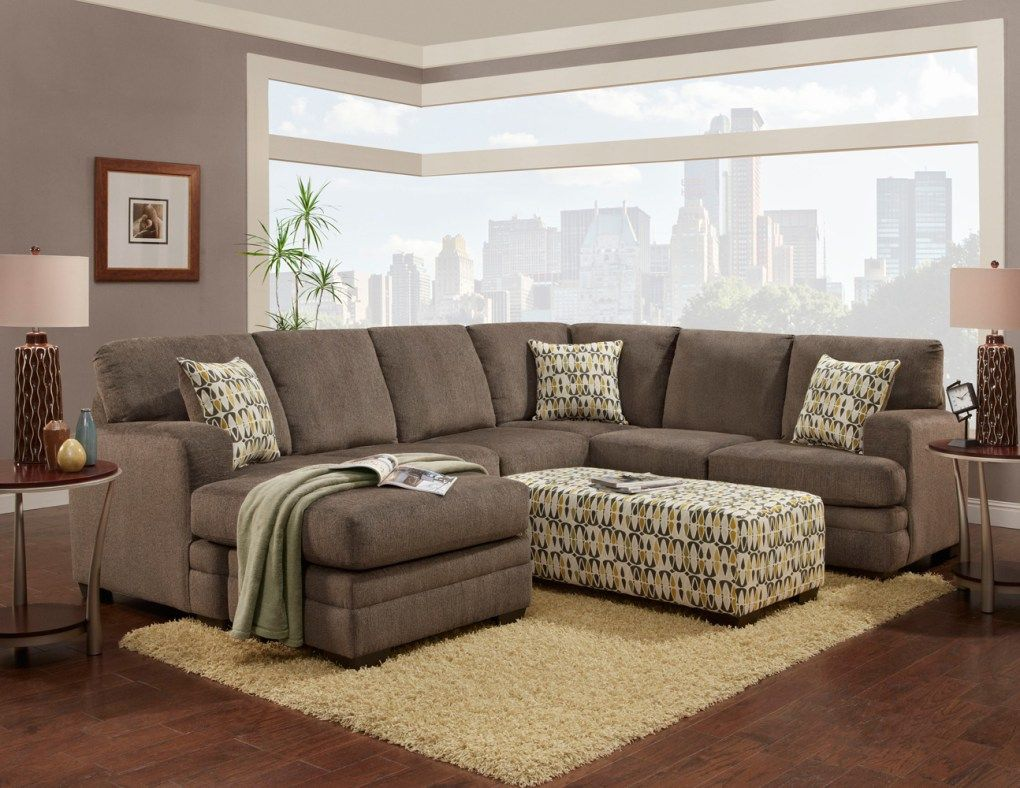 Pewter Chaise Sectional Sofa With Images Chelsea Home Furniture Sectional Sofa Furniture #unclaimed #freight #living #room #sets