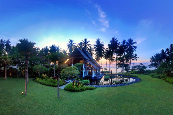 Beach villa on Bali